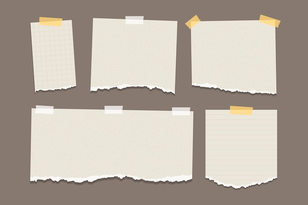 Paczka podartego papieru w różnych kształtach