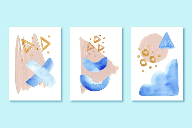 Paczka pokrowców z malowanymi kształtami