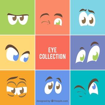 Paczka postaci z kreskówek oczy