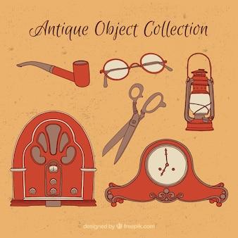Paczka ręcznie rysowane starych obiektów