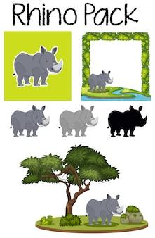 Paczka słodkich nosorożców