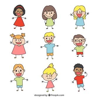 Paczka śmieszne doodles na dzień dziecka