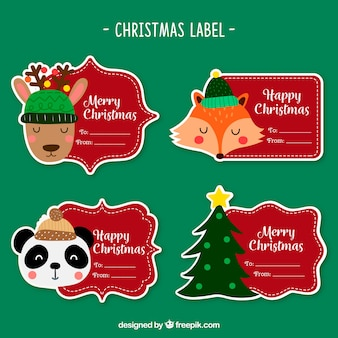 Paczka starych naklejek bożonarodzeniowych
