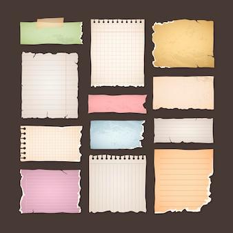 Paczka starych papierów do notatnika