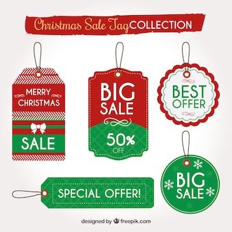 Paczka świątecznych etykiet sprzedaży
