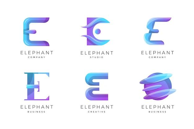 Paczka szablonów logo o gradiencie