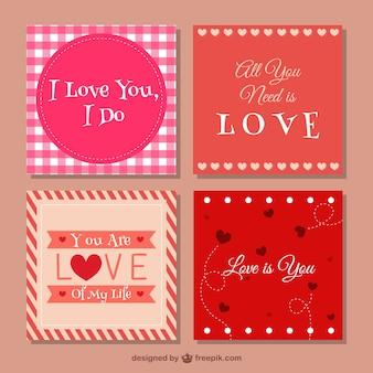 Paczka valentine karty z pozdrowieniami