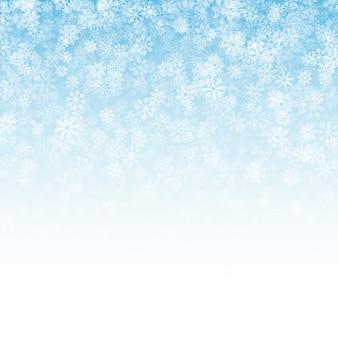 Padający śnieg efekt jasnym tle