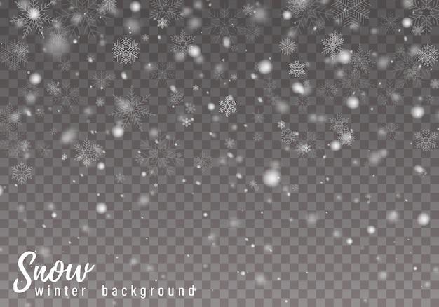 Padający śnieg w tle