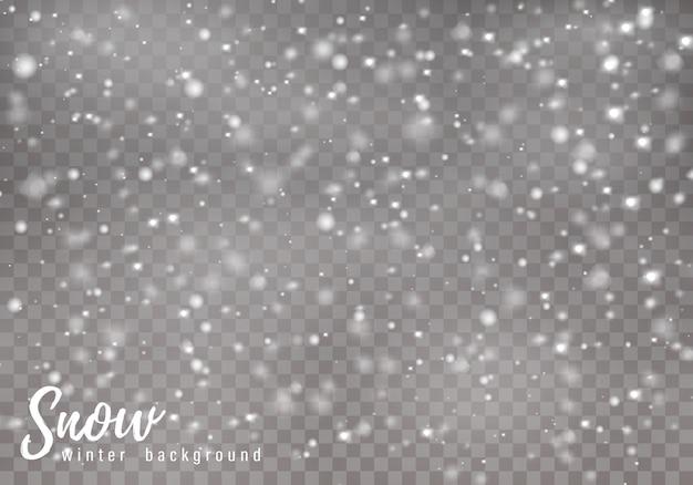Padający świąteczny śnieg. płatki śniegu, duże opady śniegu.