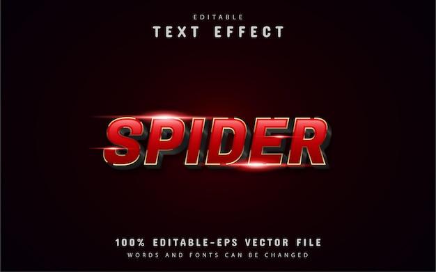 Pająk 3d czerwony efekt tekstowy gradientu