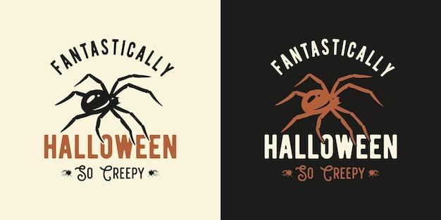 Pająk halloween lub owad do druku halloween