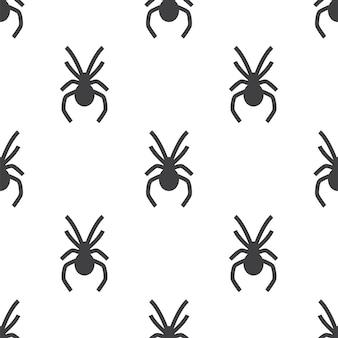 Pająk, wektor wzór bez szwu, edytowalny może być używany do tła stron internetowych, wypełnienia deseniem