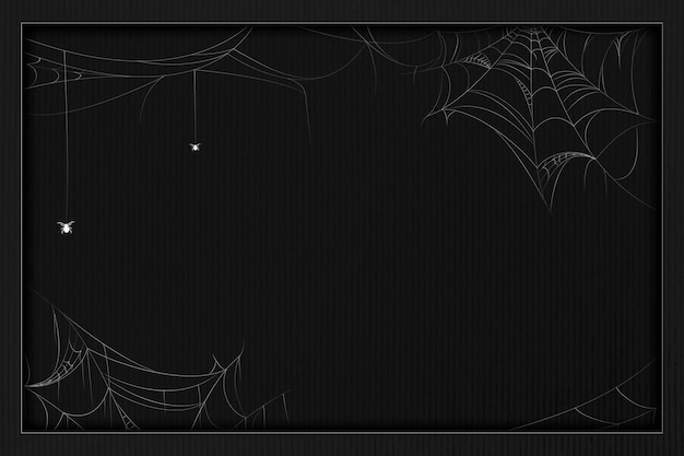 Pajęczyna element na czarnym tle szablonu