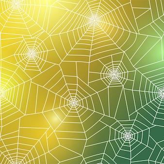 Pajęczyna wzór. halloweenowa dekoracja z pajęczyną. ilustracja wektorowa pajęczyna