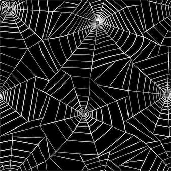 Pajęczyna wzór. halloweenowa dekoracja z pajęczyną. ilustracja wektorowa płaska pajęczyna