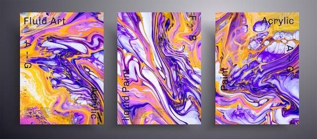 Pakiet abstrakcyjnych tekstur pokrowców płynnych modny