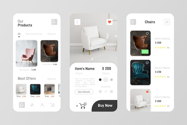 Pakiet aplikacji do zakupów mebli