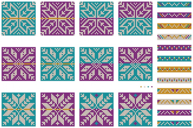 Pakiet babci noworocznych świątecznych wzorów bobasowego swetra