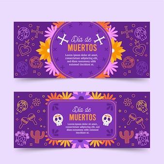 Pakiet banerów dia de muertos