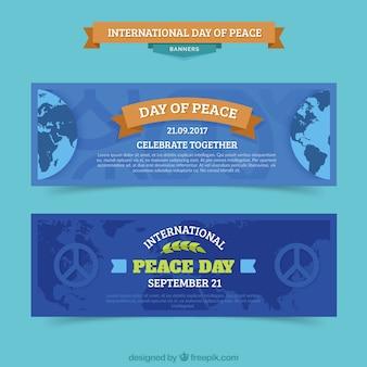 Pakiet banerów na międzynarodowy dzień pokoju