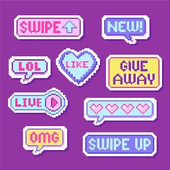Pakiet baniek slangowych mediów społecznościowych