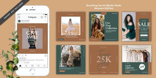 Pakiet bannerów społecznościowych wydanie jesienne