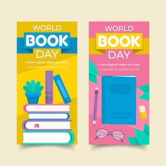 Pakiet bannerów światowego dnia książki