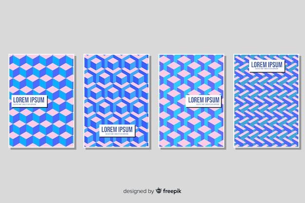 Pakiet broszur izometryczny wzór
