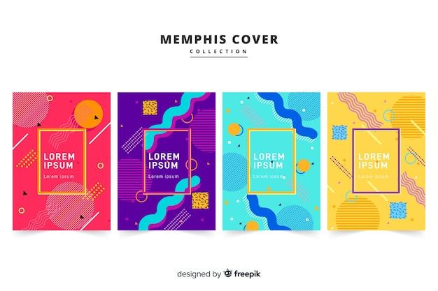 Pakiet broszur w stylu memphis
