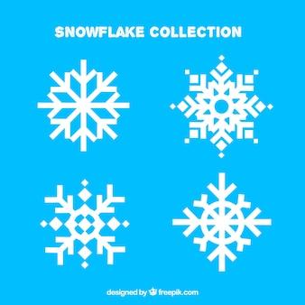 Pakiet czterech pięknych płatków śniegu
