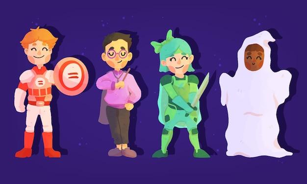 Pakiet dziecięcy festiwalu halloween