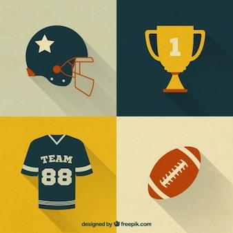 Pakiet elementów futbolu amerykańskiego