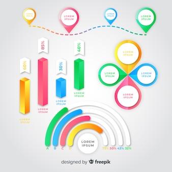 Pakiet elementów gradientu infographic