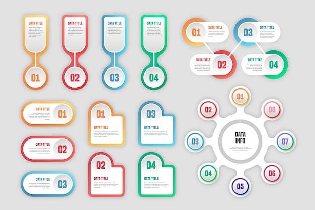 Pakiet elementów infographic
