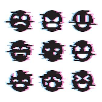 Pakiet emotikonów glitch