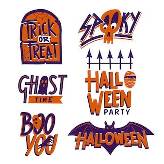 Pakiet etykiet halloween