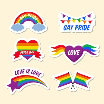 Pakiet etykiet pride day