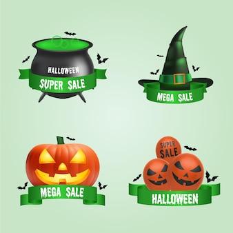 Pakiet etykiet sprzedaży halloween