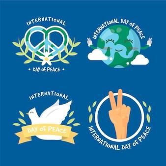 Pakiet etykiet z międzynarodowym dniem pokoju