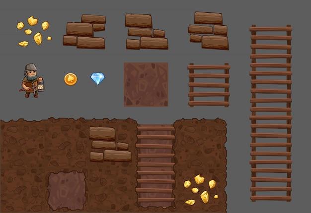 Pakiet gier elementy kafelków