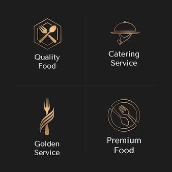 Pakiet gradientowych logo cateringowych