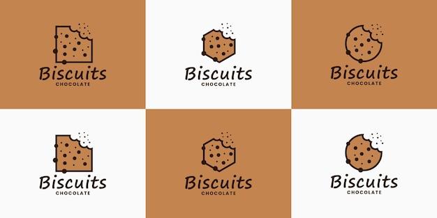 Pakiet herbatników logo wektor dla restauracji kulinarnej