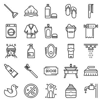 Pakiet ikon do łazienki