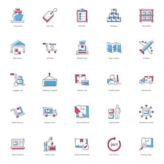 Pakiet ikon dostawy logistycznej