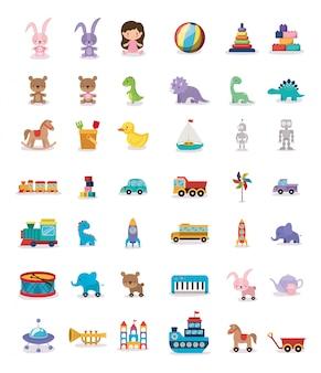Pakiet ikon dzieci zabawki