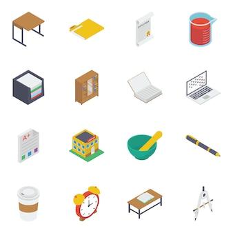 Pakiet ikon edukacji i nauki