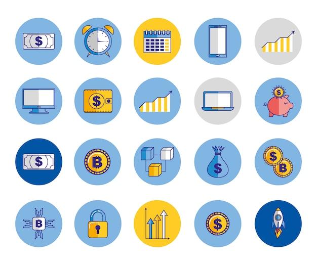 Pakiet ikon gospodarki i finansów