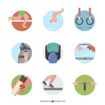 Pakiet ikon kreskówki sportowe