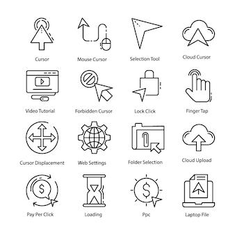 Pakiet ikon kursora